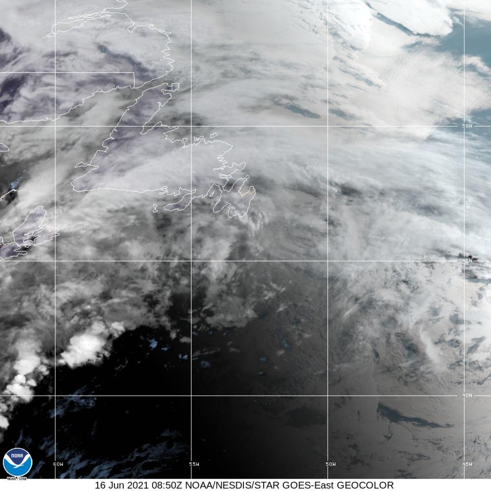 GeoColor - True Color daytime, multispectral IR at night - 16 Jun 2021 - 0850 UTC