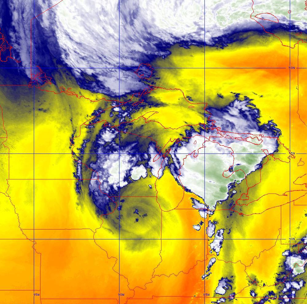 Band 10 - 7.3 µm - Lower-level Water Vapor - IR - 10 Jun 2020 - 2020 UTC