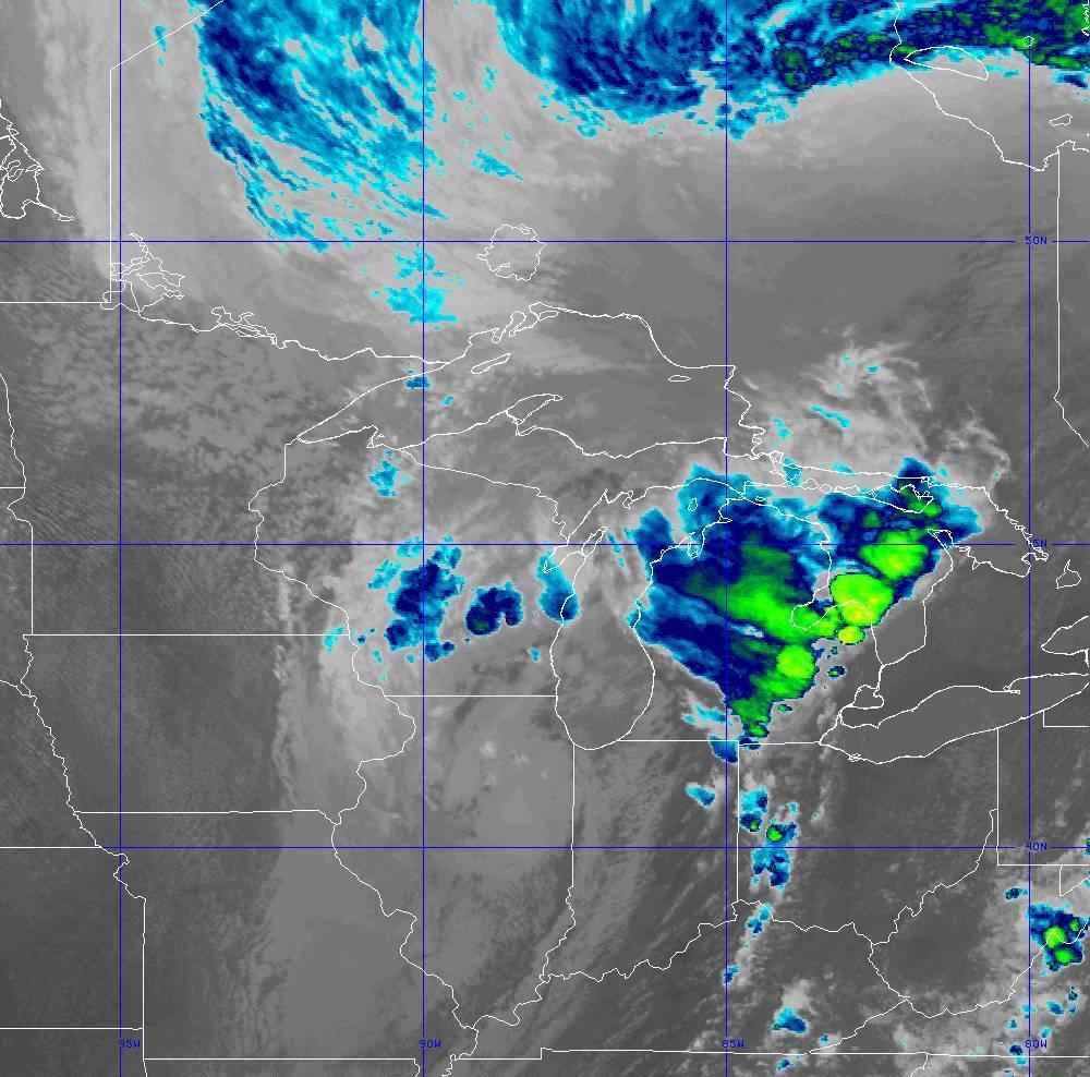 Band 11 - 8.4 µm - Cloud Top - IR - 10 Jun 2020 - 2030 UTC
