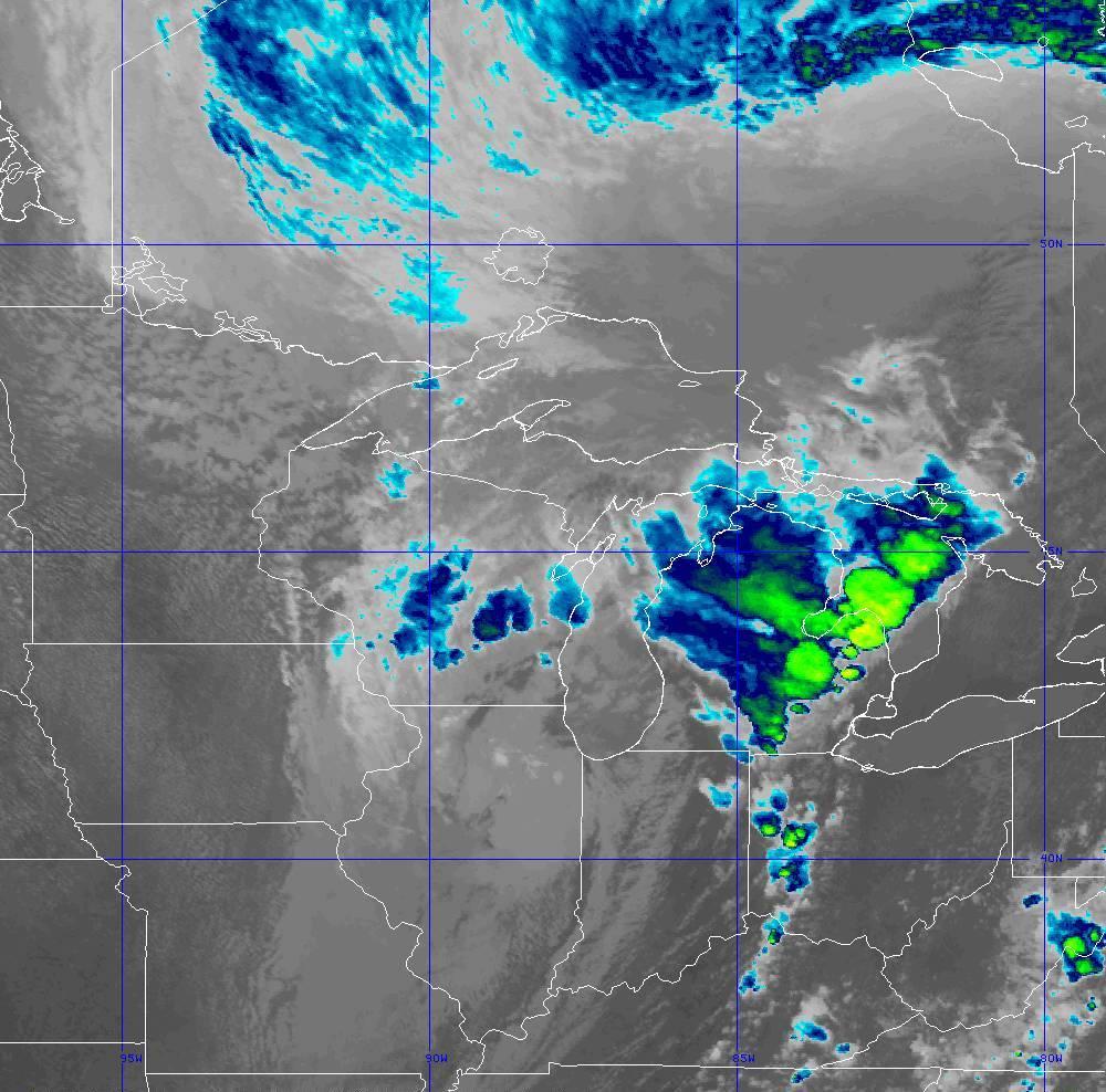 Band 11 - 8.4 µm - Cloud Top - IR - 10 Jun 2020 - 2040 UTC