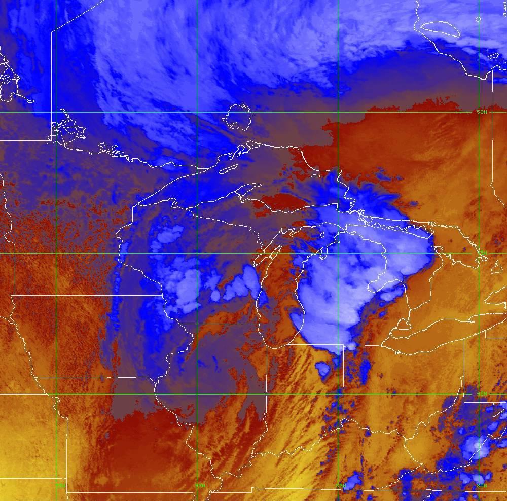 Band 16 - 13.3 µm - CO₂ Longwave - IR - 10 Jun 2020 - 1920 UTC