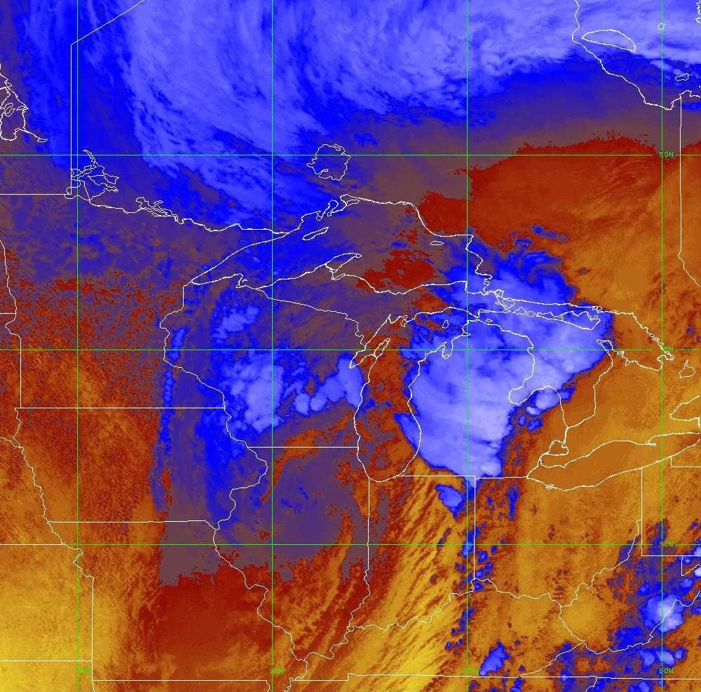 Band 16 - 13.3 µm - CO₂ Longwave - IR - 10 Jun 2020 - 1940 UTC
