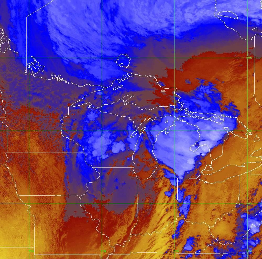 Band 16 - 13.3 µm - CO₂ Longwave - IR - 10 Jun 2020 - 2020 UTC