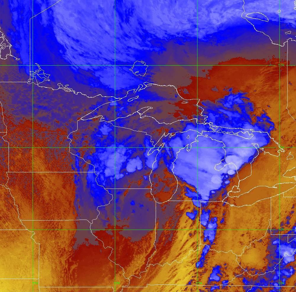 Band 16 - 13.3 µm - CO₂ Longwave - IR - 10 Jun 2020 - 2030 UTC