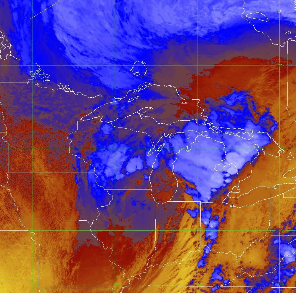 Band 16 - 13.3 µm - CO₂ Longwave - IR - 10 Jun 2020 - 2040 UTC