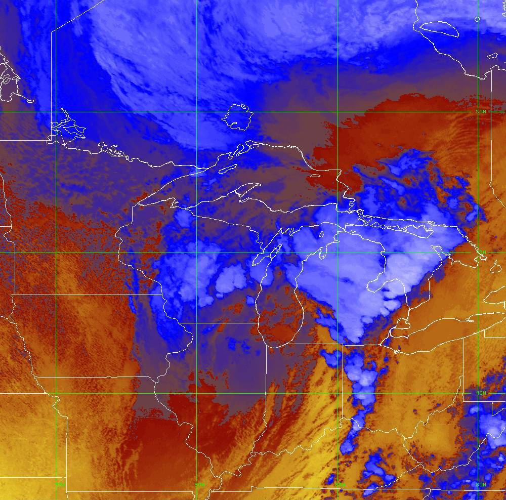 Band 16 - 13.3 µm - CO₂ Longwave - IR - 10 Jun 2020 - 2050 UTC