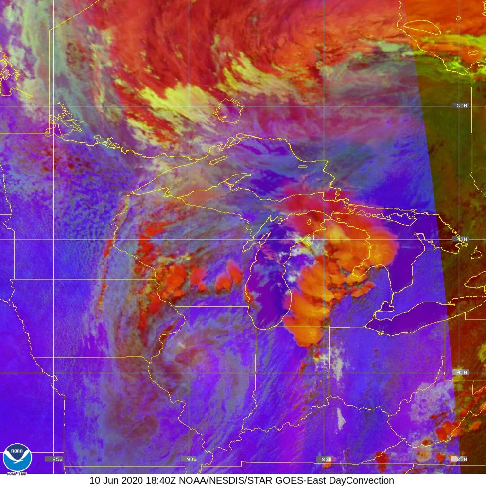 Day Convection - RGB used to identify areas of rapid intensification - 10 Jun 2020 - 1840 UTC