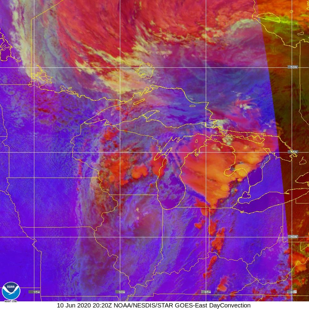 Day Convection - RGB used to identify areas of rapid intensification - 10 Jun 2020 - 2020 UTC