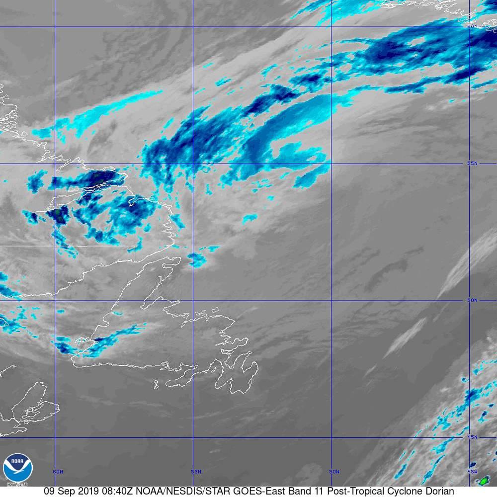 Band 11 - 8.4 µm - Cloud Top - IR - 09 Sep 2019 - 0840 UTC