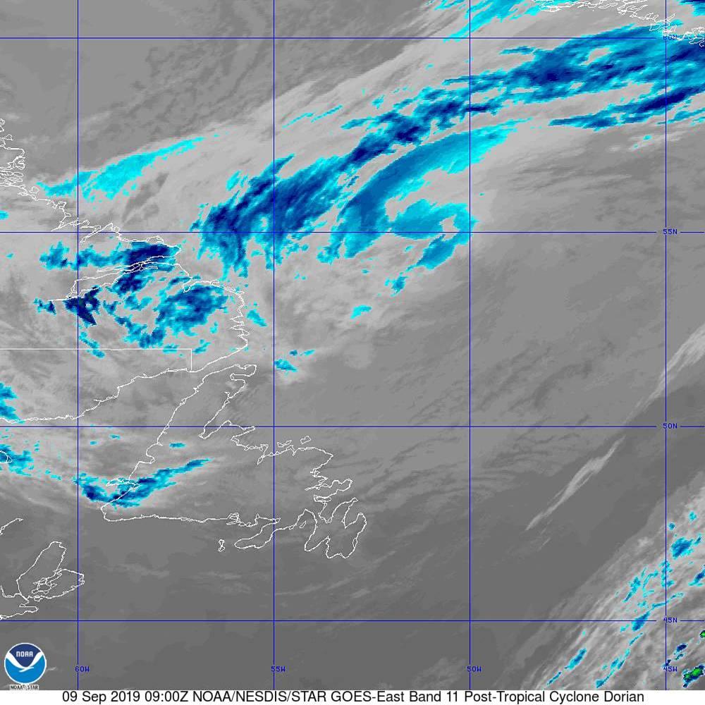 Band 11 - 8.4 µm - Cloud Top - IR - 09 Sep 2019 - 0900 UTC