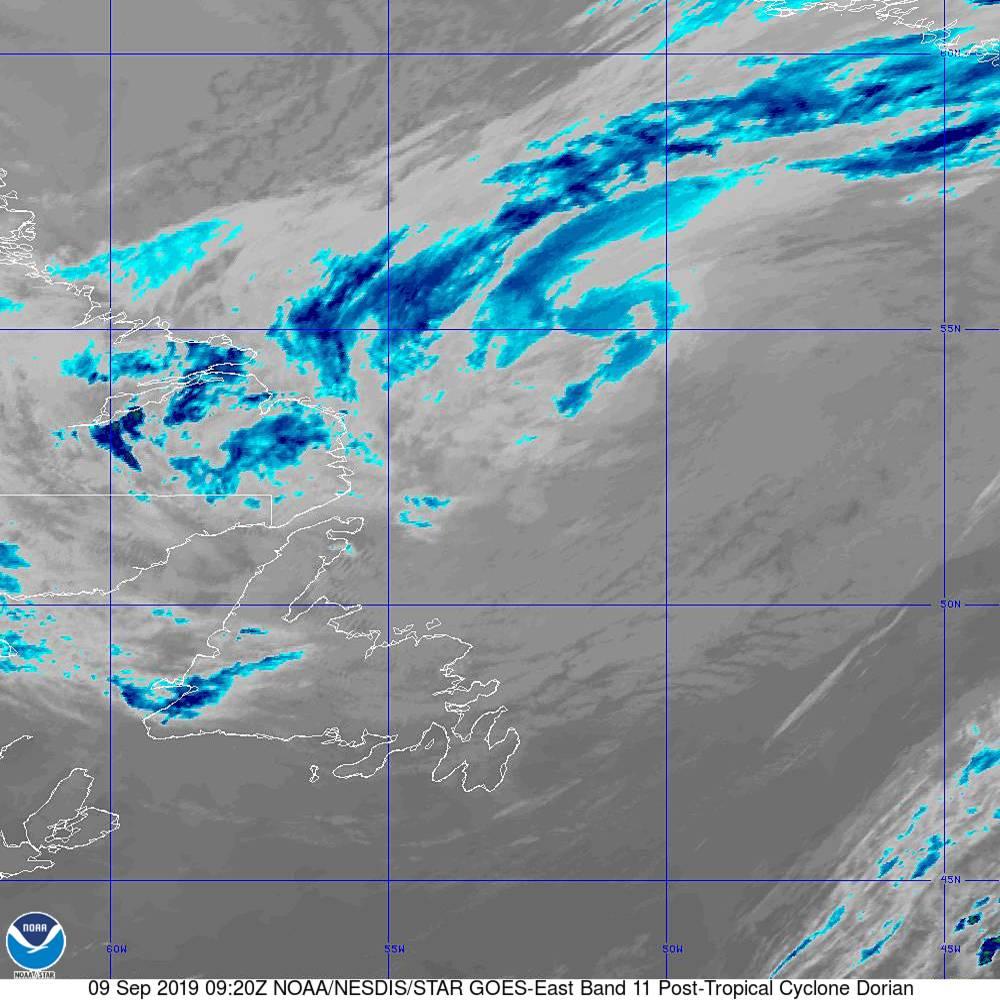 Band 11 - 8.4 µm - Cloud Top - IR - 09 Sep 2019 - 0920 UTC