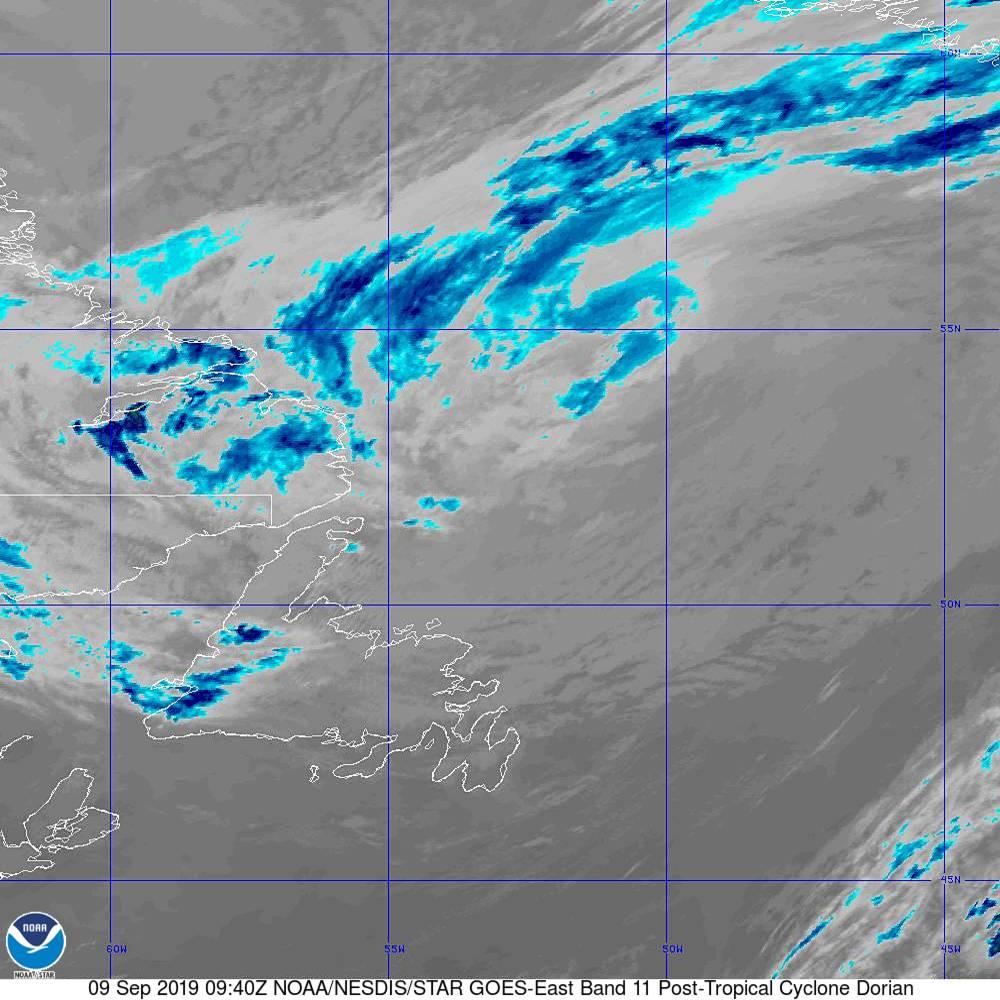 Band 11 - 8.4 µm - Cloud Top - IR - 09 Sep 2019 - 0940 UTC