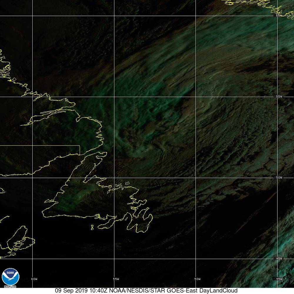 Day Land Cloud - EUMETSAT Natural Color - 09 Sep 2019 - 1040 UTC