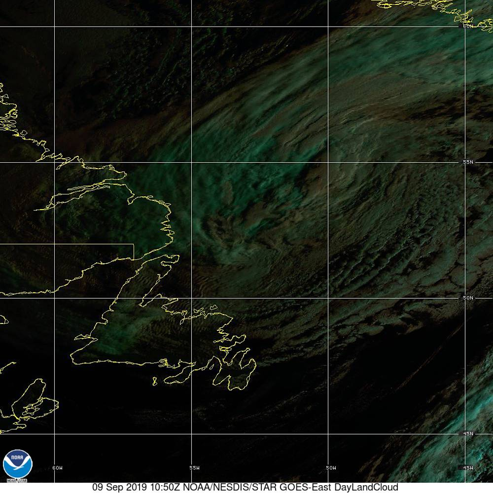 Day Land Cloud - EUMETSAT Natural Color - 09 Sep 2019 - 1050 UTC