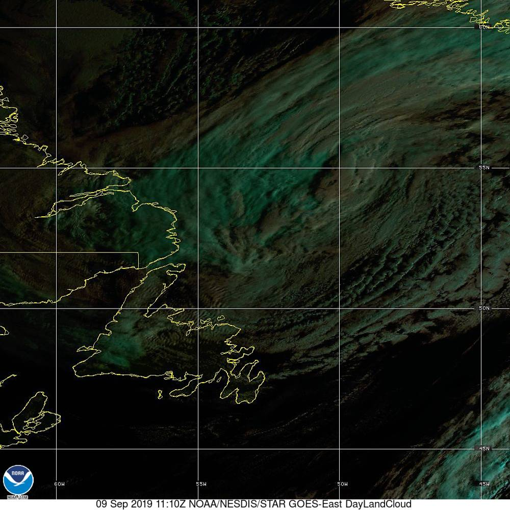 Day Land Cloud - EUMETSAT Natural Color - 09 Sep 2019 - 1110 UTC