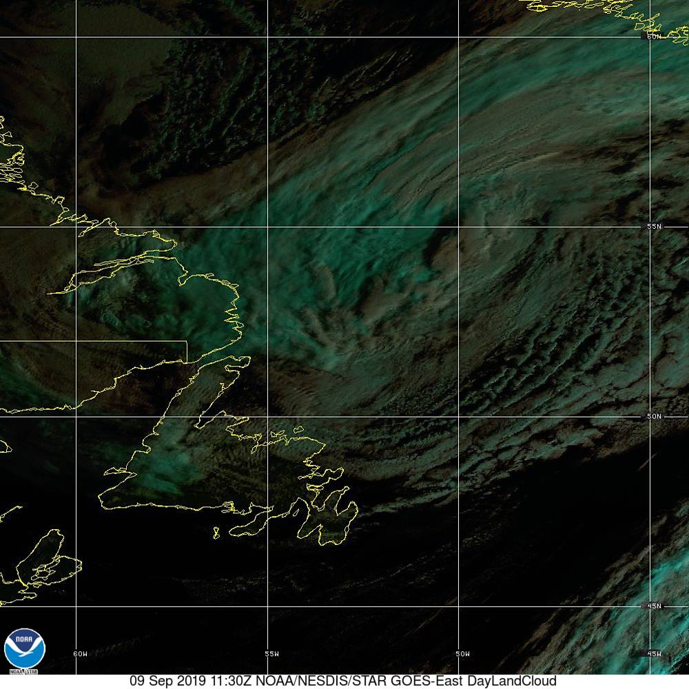 Day Land Cloud - EUMETSAT Natural Color - 09 Sep 2019 - 1130 UTC