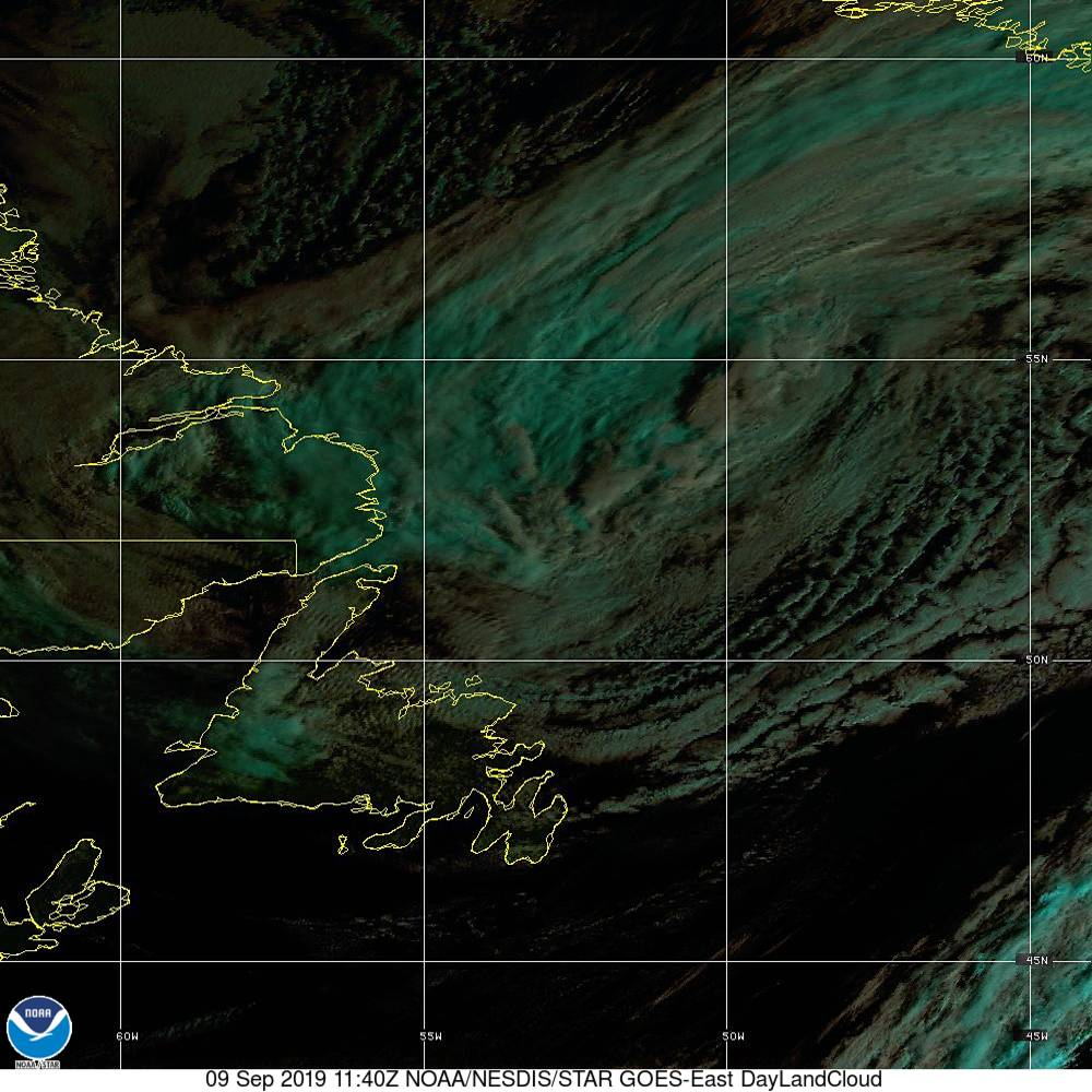 Day Land Cloud - EUMETSAT Natural Color - 09 Sep 2019 - 1140 UTC