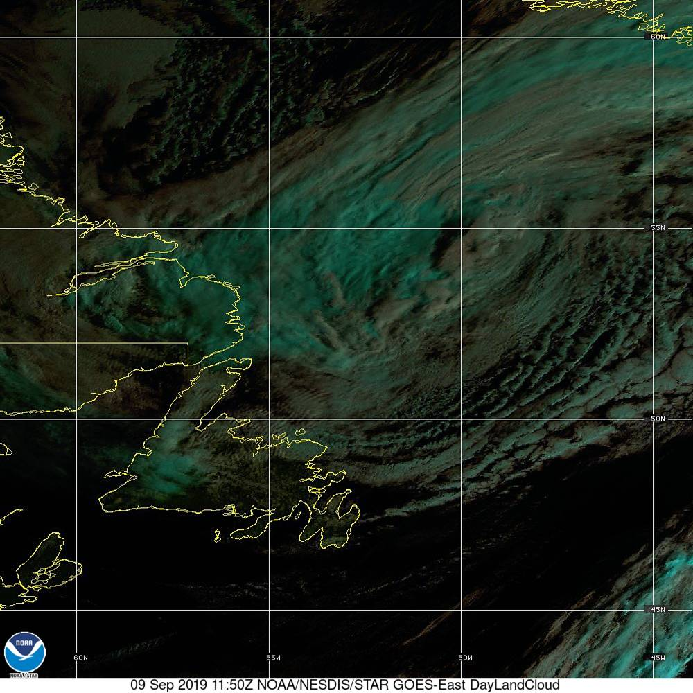 Day Land Cloud - EUMETSAT Natural Color - 09 Sep 2019 - 1150 UTC