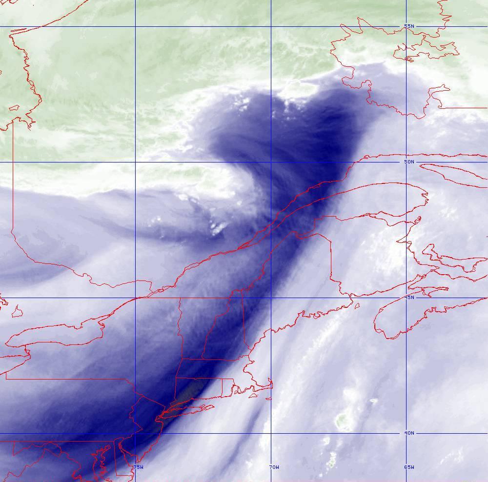 Band 8 - 6.2 µm - Upper-Level Water Vapor - IR  - 05 Aug 2020 - 1640 UTC