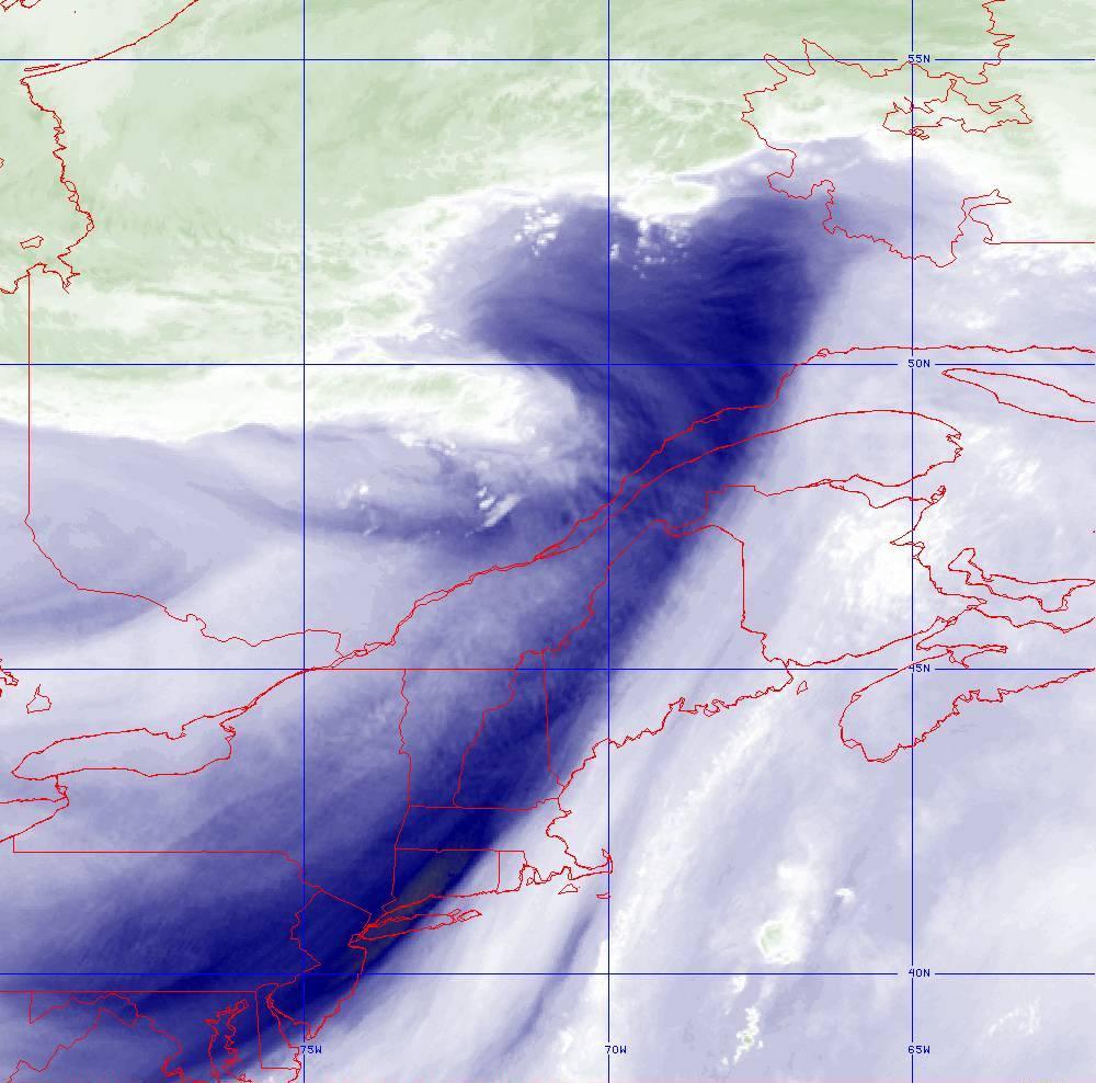 Band 8 - 6.2 µm - Upper-Level Water Vapor - IR  - 05 Aug 2020 - 1650 UTC