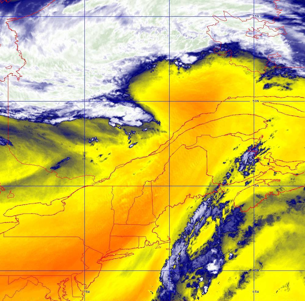 Band 10 - 7.3 µm - Lower-level Water Vapor - IR - 05 Aug 2020 - 1620 UTC