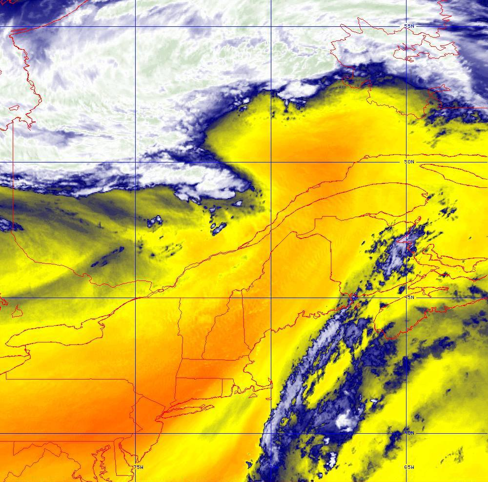 Band 10 - 7.3 µm - Lower-level Water Vapor - IR - 05 Aug 2020 - 1640 UTC