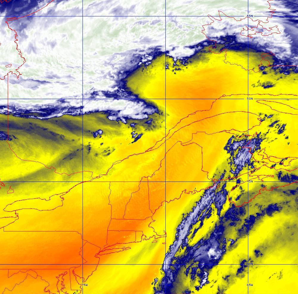Band 10 - 7.3 µm - Lower-level Water Vapor - IR - 05 Aug 2020 - 1700 UTC