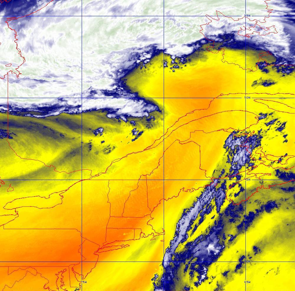 Band 10 - 7.3 µm - Lower-level Water Vapor - IR - 05 Aug 2020 - 1710 UTC