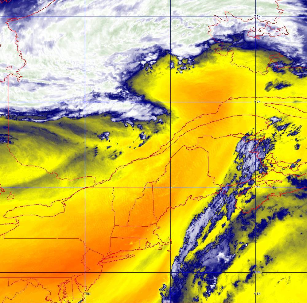 Band 10 - 7.3 µm - Lower-level Water Vapor - IR - 05 Aug 2020 - 1720 UTC