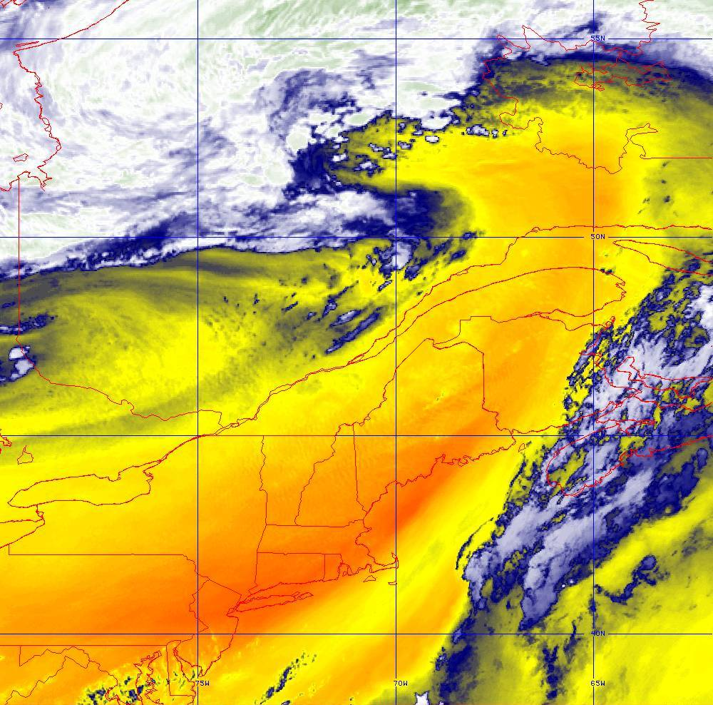 Band 10 - 7.3 µm - Lower-level Water Vapor - IR - 05 Aug 2020 - 2000 UTC