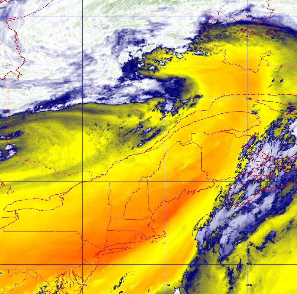 Band 10 - 7.3 µm - Lower-level Water Vapor - IR - 05 Aug 2020 - 2010 UTC