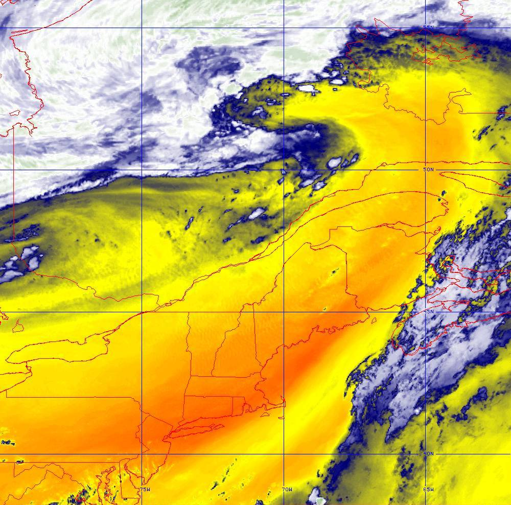 Band 10 - 7.3 µm - Lower-level Water Vapor - IR - 05 Aug 2020 - 2050 UTC