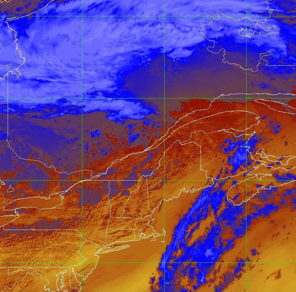 Band 16 - 13.3 µm - CO₂ Longwave - IR - 05 Aug 2020 - 1650 UTC