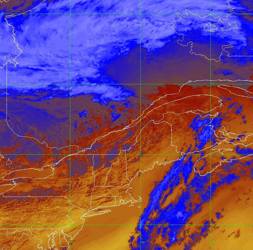 Band 16 - 13.3 µm - CO₂ Longwave - IR - 05 Aug 2020 - 1700 UTC