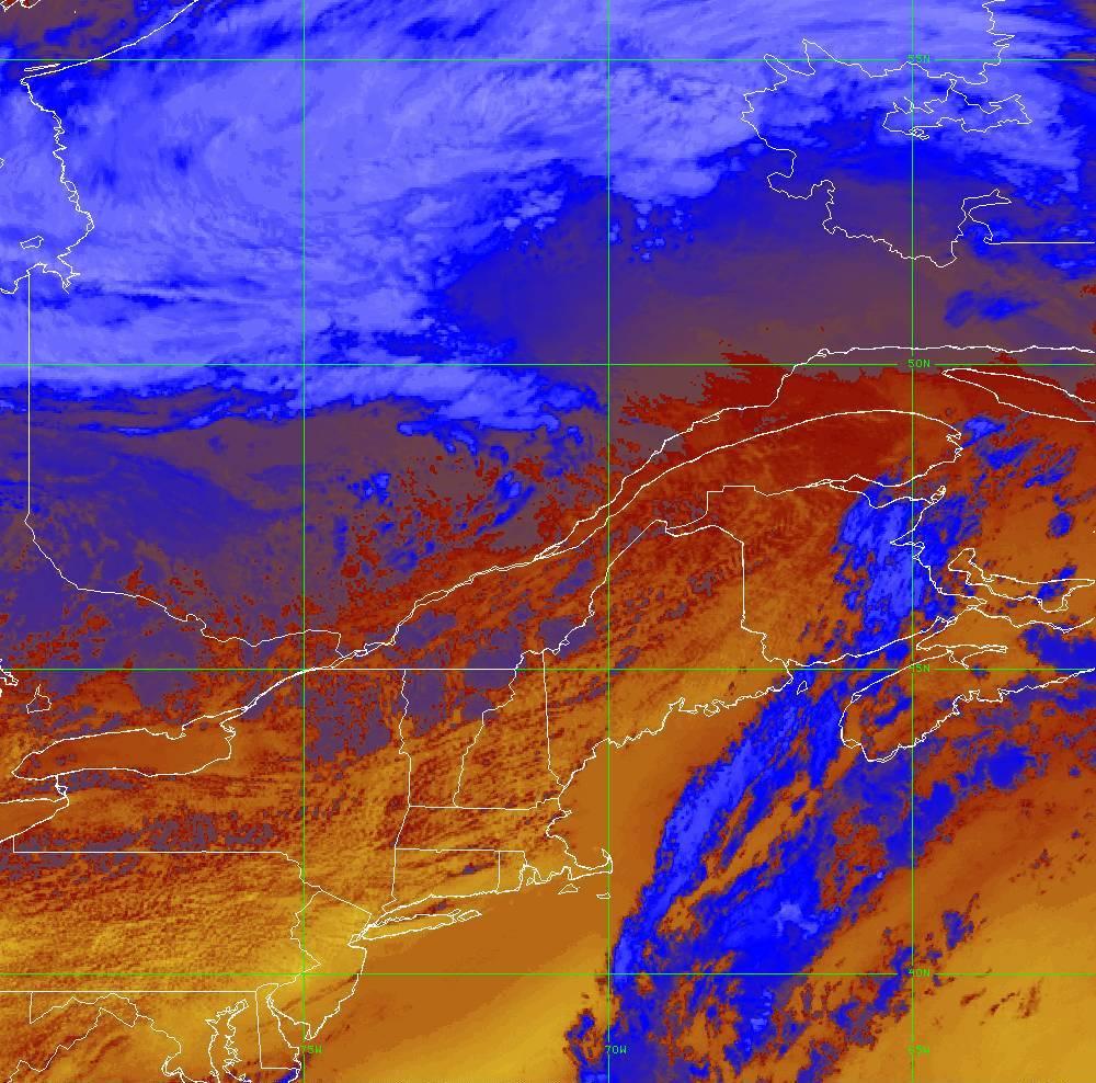Band 16 - 13.3 µm - CO₂ Longwave - IR - 05 Aug 2020 - 1720 UTC