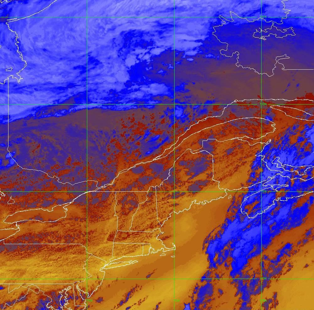 Band 16 - 13.3 µm - CO₂ Longwave - IR - 05 Aug 2020 - 2010 UTC