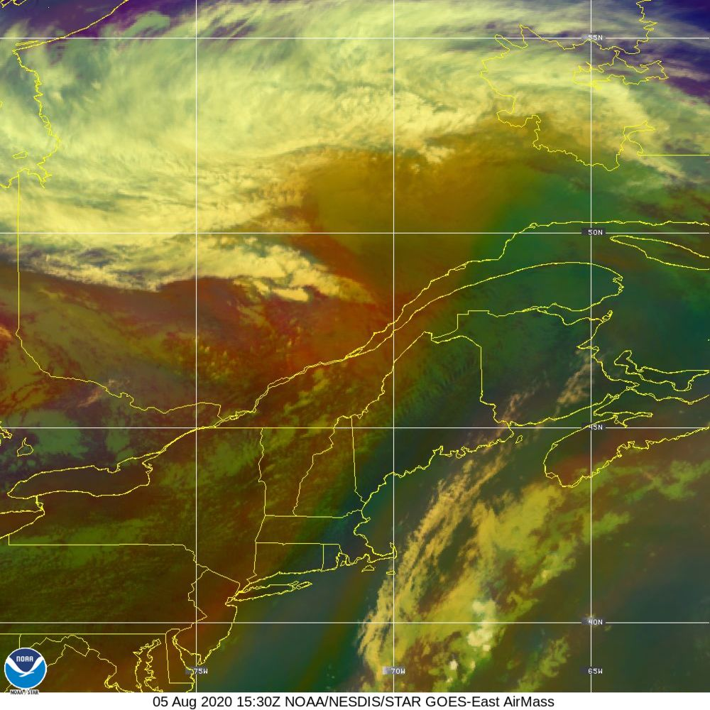 Air Mass - RGB composite based on the data from IR and WV - 05 Aug 2020 - 1530 UTC