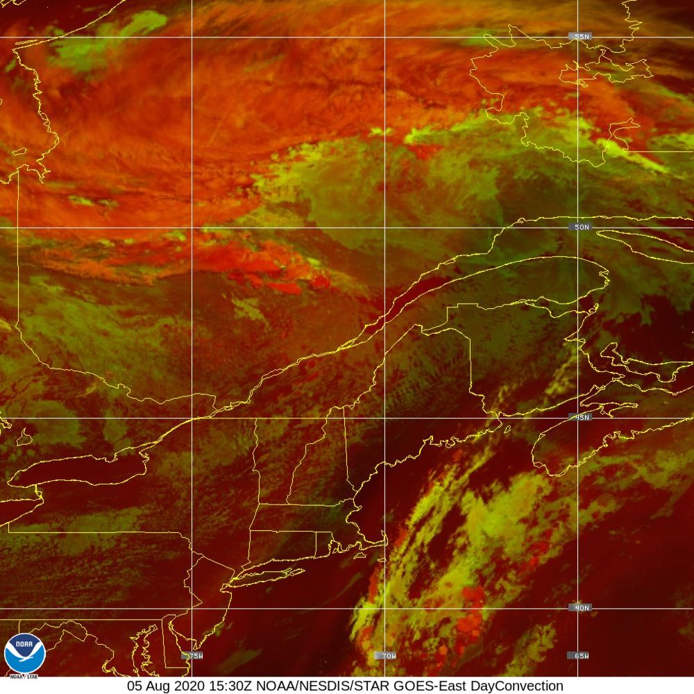 Day Convection - RGB used to identify areas of rapid intensification - 05 Aug 2020 - 1530 UTC