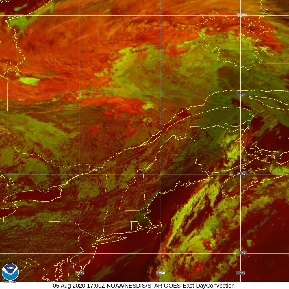 Day Convection - RGB used to identify areas of rapid intensification - 05 Aug 2020 - 1700 UTC