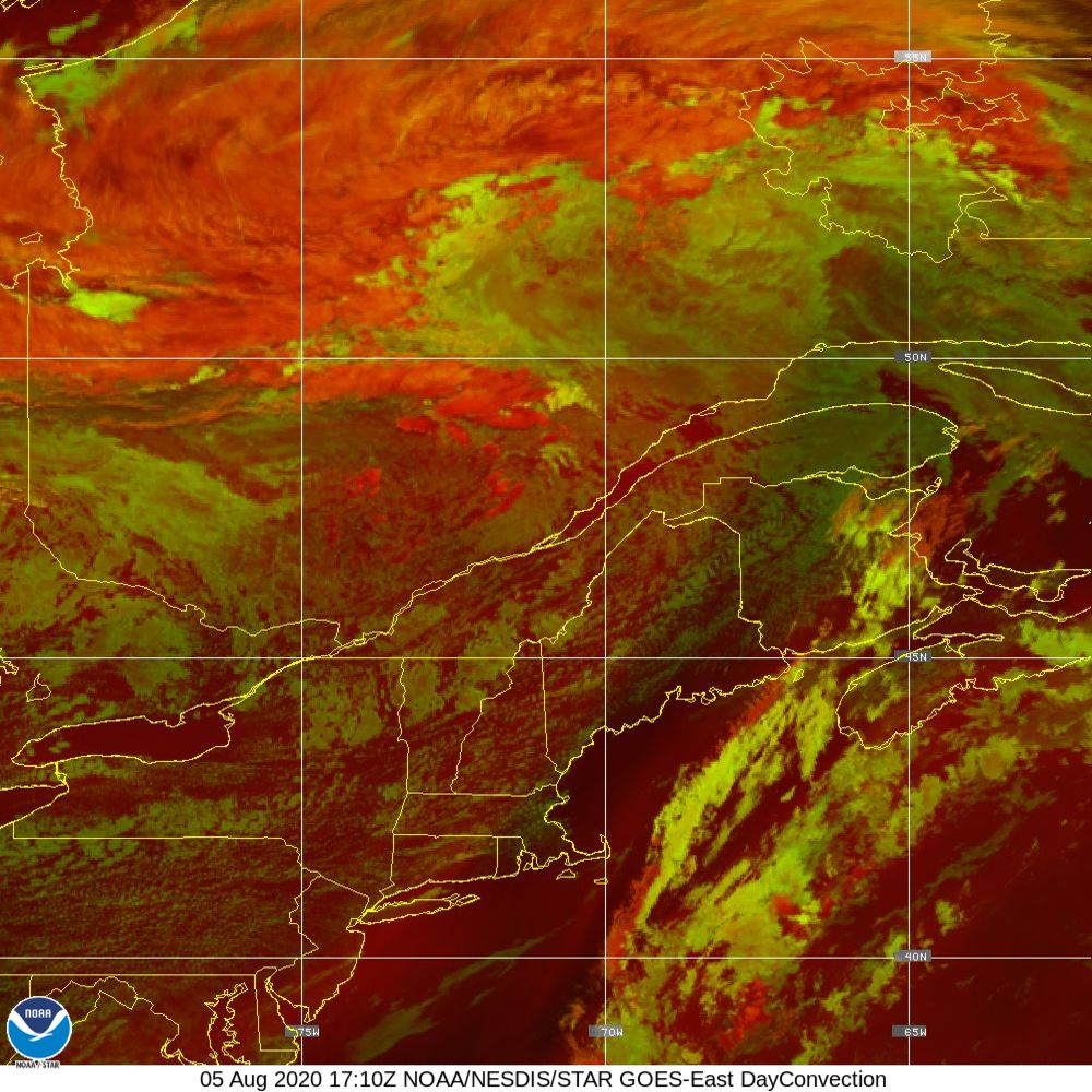 Day Convection - RGB used to identify areas of rapid intensification - 05 Aug 2020 - 1710 UTC