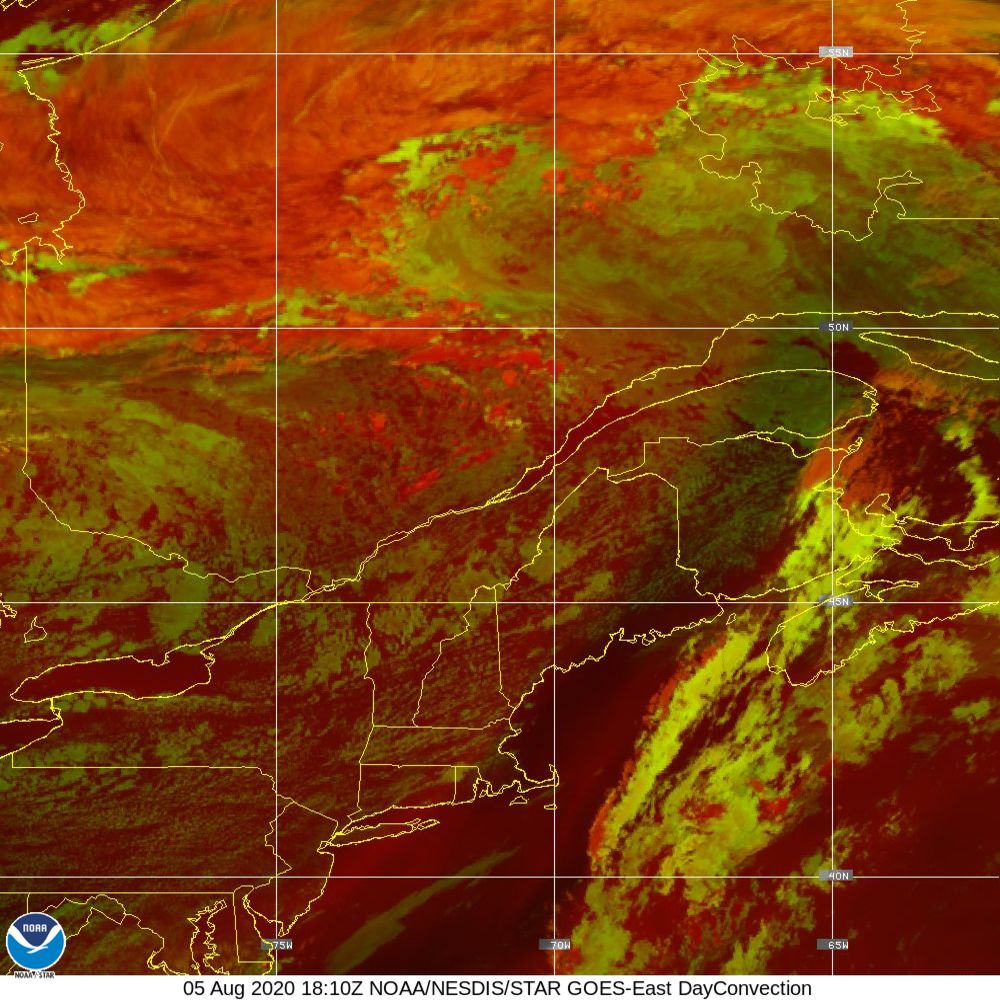 Day Convection - RGB used to identify areas of rapid intensification - 05 Aug 2020 - 1810 UTC