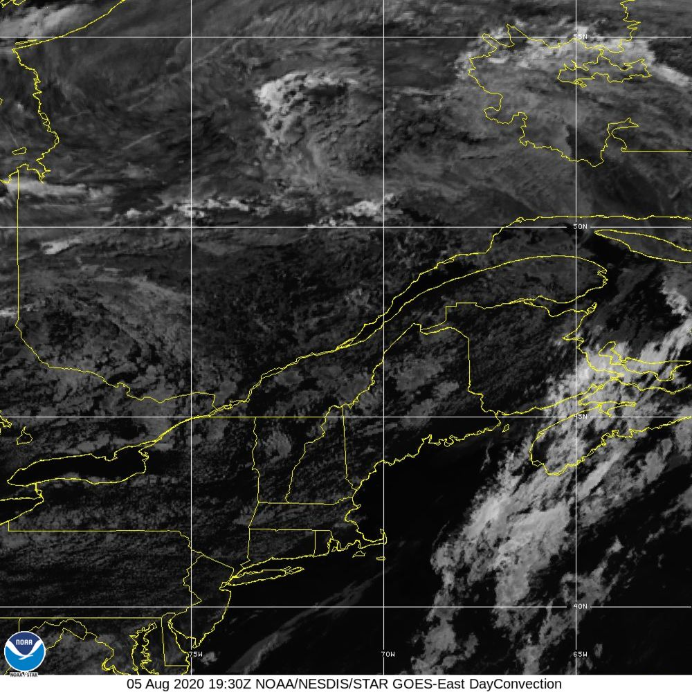 Day Convection - RGB used to identify areas of rapid intensification - 05 Aug 2020 - 1930 UTC