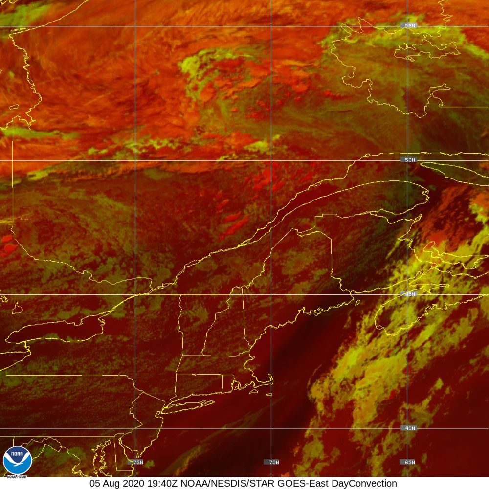 Day Convection - RGB used to identify areas of rapid intensification - 05 Aug 2020 - 1940 UTC