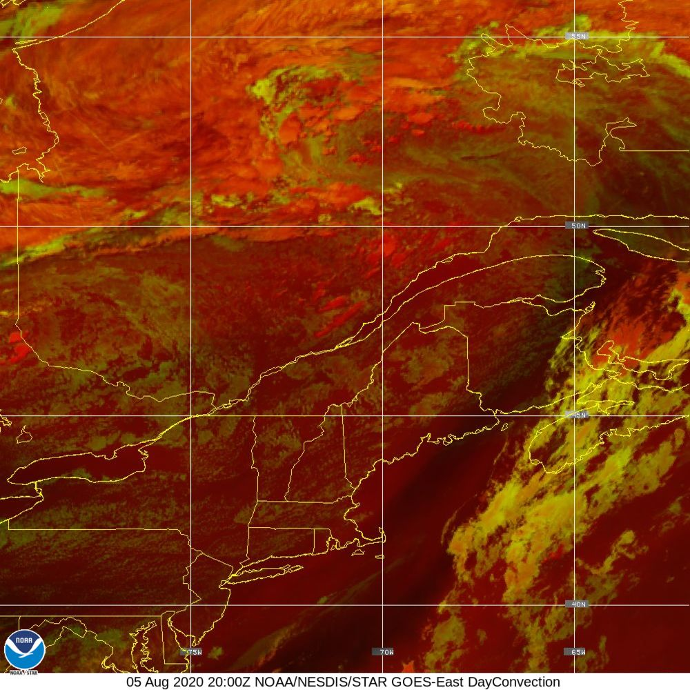 Day Convection - RGB used to identify areas of rapid intensification - 05 Aug 2020 - 2000 UTC