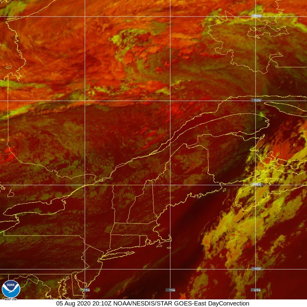 Day Convection - RGB used to identify areas of rapid intensification - 05 Aug 2020 - 2010 UTC
