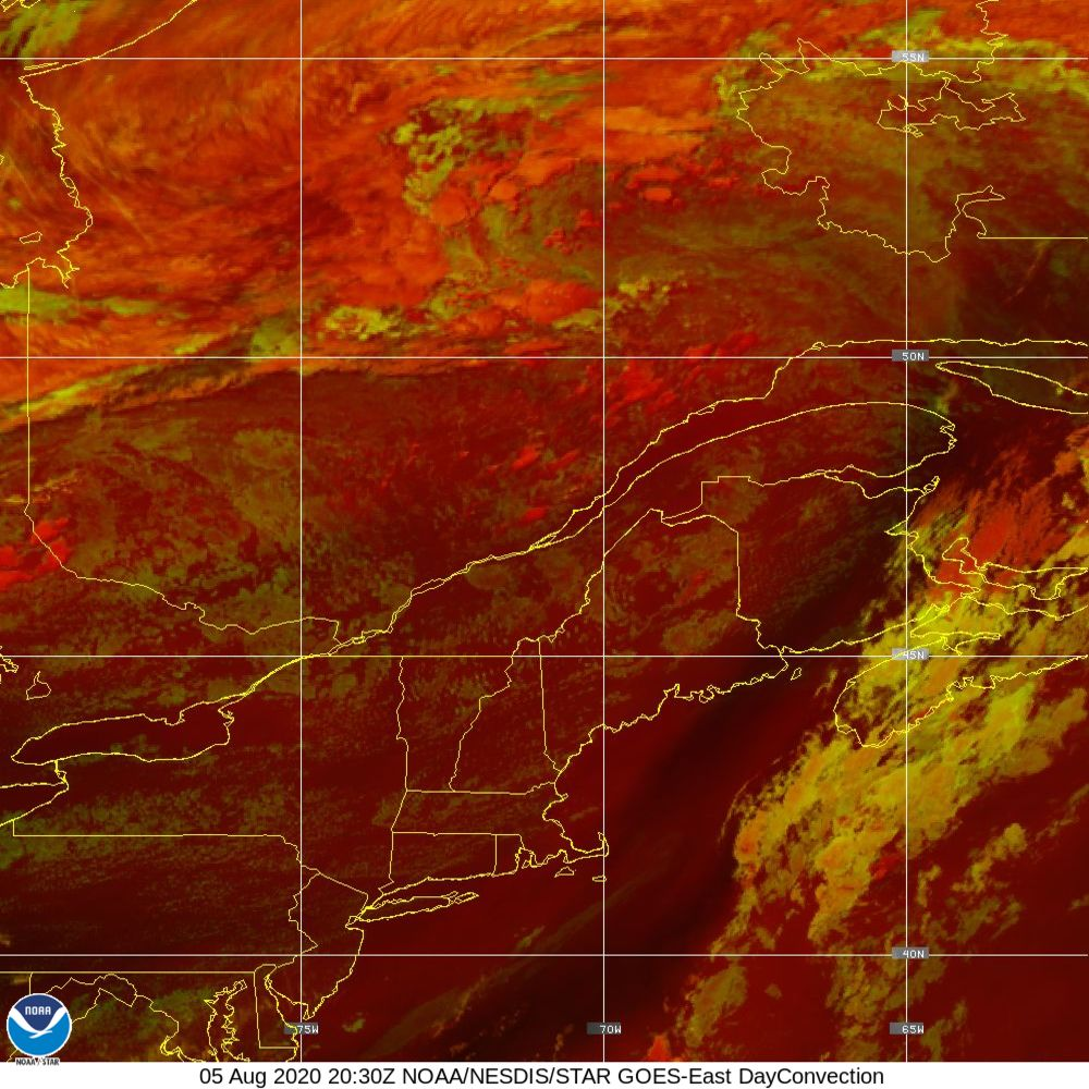 Day Convection - RGB used to identify areas of rapid intensification - 05 Aug 2020 - 2030 UTC