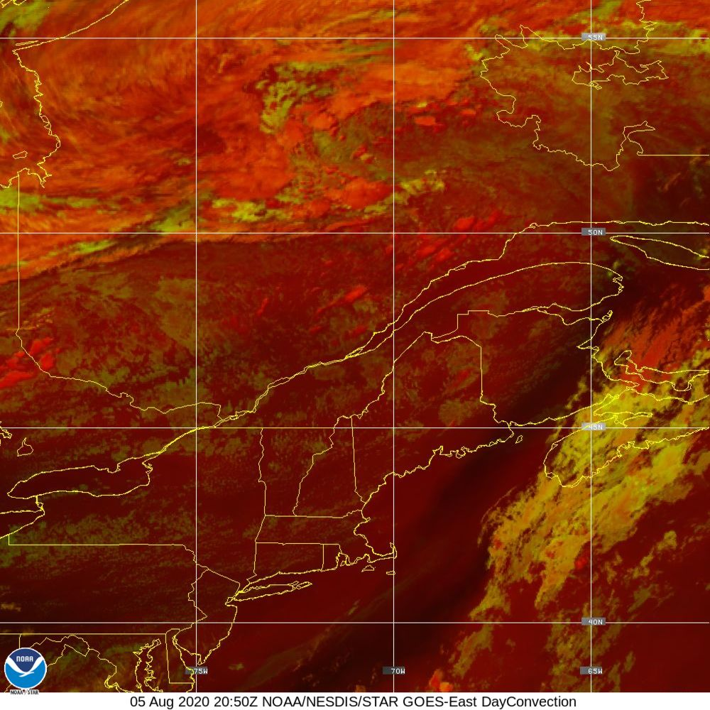Day Convection - RGB used to identify areas of rapid intensification - 05 Aug 2020 - 2050 UTC