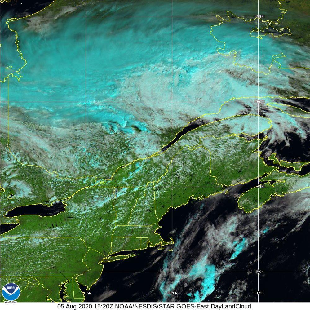 Day Land Cloud - EUMETSAT Natural Color - 05 Aug 2020 - 1520 UTC
