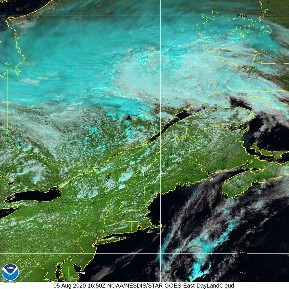 Day Land Cloud - EUMETSAT Natural Color - 05 Aug 2020 - 1650 UTC