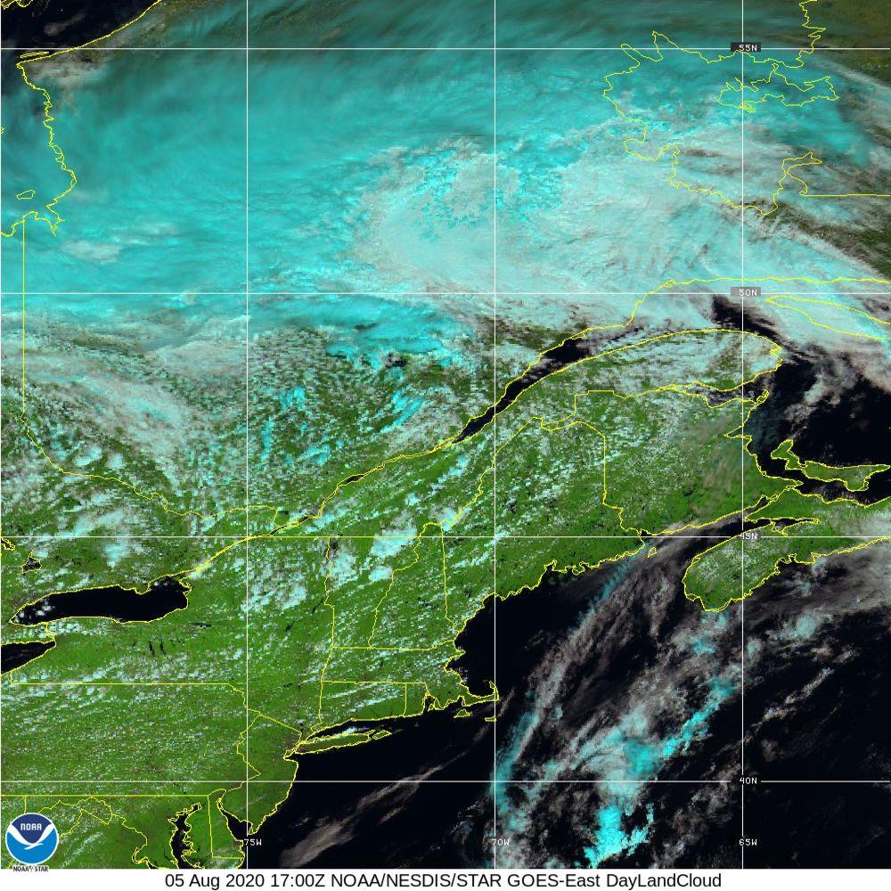 Day Land Cloud - EUMETSAT Natural Color - 05 Aug 2020 - 1700 UTC